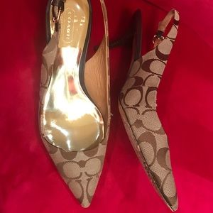 Pair of Coach heels. Great condition!